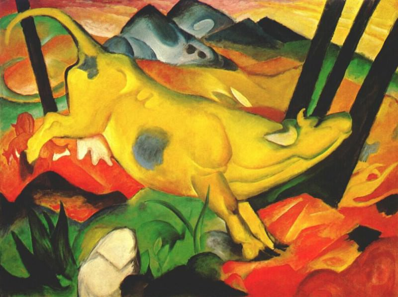 the yellow cow 1911, Franz Marc
