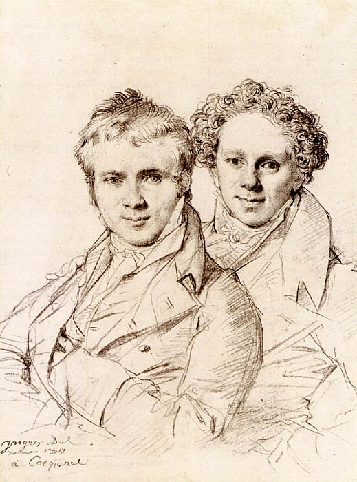 Ingres Otto Magnus von Stackelberg and possibly Jackob Linckh, Jean Auguste Dominique Ingres