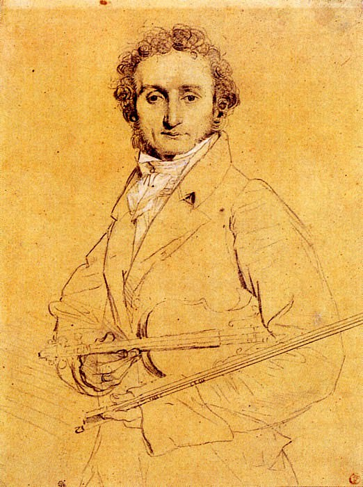 Ingres Niccolo Paganini, Jean Auguste Dominique Ingres