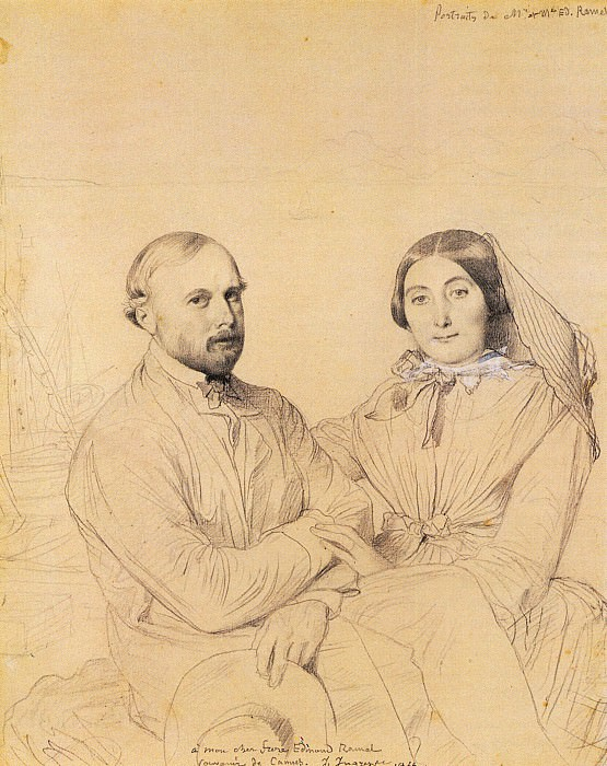 Ingres Edmond Ramel and his wife born Irma Donbernard, Jean Auguste Dominique Ingres