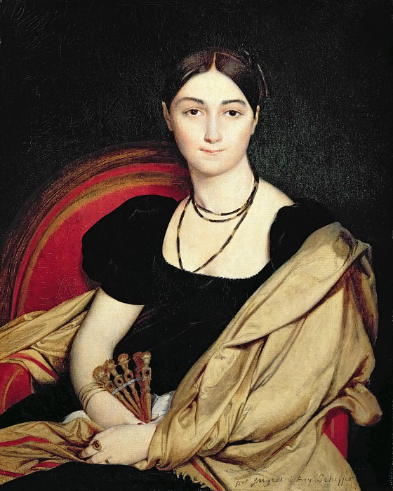 Portrait de Madame Devaucey sketch, Jean Auguste Dominique Ingres