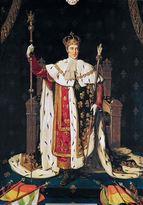 King Charles Xth in coronation robes, Jean Auguste Dominique Ingres