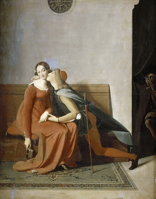 Paolo and Francesca, Jean Auguste Dominique Ingres