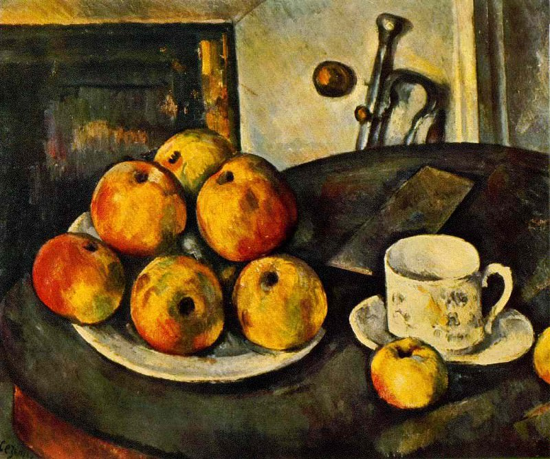STILL LIFE WITH APPLES,1890-94, PRIVATE,USA, Paul Cezanne