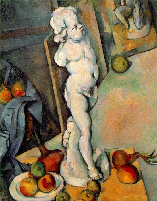 STILL LIFE WITH PLASTER CUPID,1895, COURTAULD INSTIT, Paul Cezanne