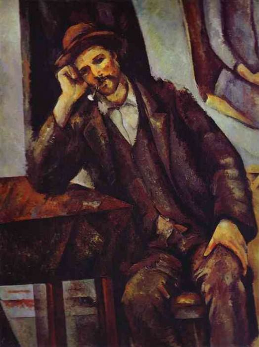 Man Smoking a Pipe, Paul Cezanne
