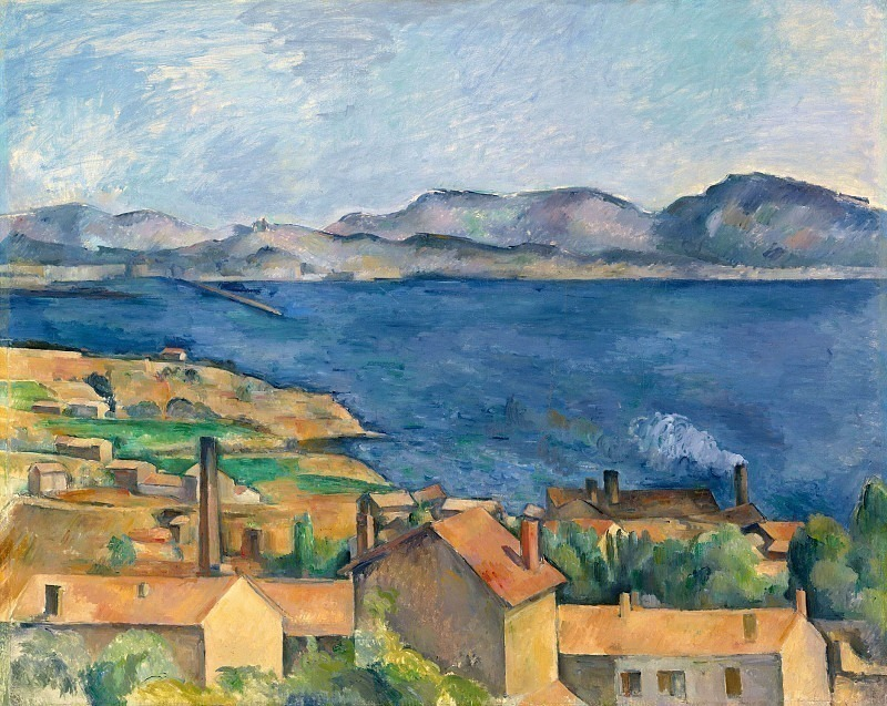 THE BAY FROM LESTAQUE,C.1886, ART INST.OF CHICAGO, Paul Cezanne