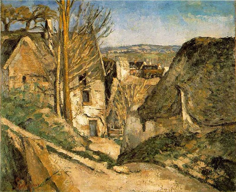 HOUSE OF THE HANGED MAN,1873, Musee dOrsay,Paris, Paul Cezanne