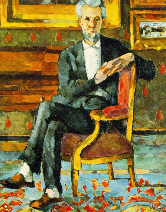 CHOQUET SEATED,C.1877, GALLERY OF FINE ARTS,COLUMBUS, Paul Cezanne