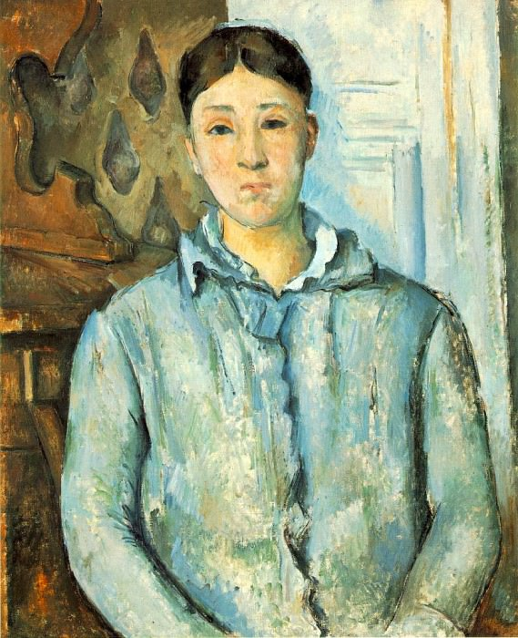 MADAME CeZANNE EN BLEU,1886, THE MUSEUM OF FINE ARTS, Paul Cezanne