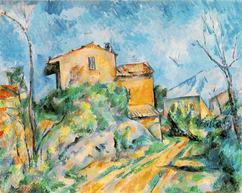 Maison Maria with a View of Chateau Noir, Paul Cezanne