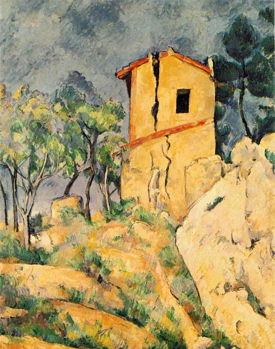 THE HOUSE WITH CRACKED WALLS,1892-94, COLL.IRA HAUPT, Paul Cezanne