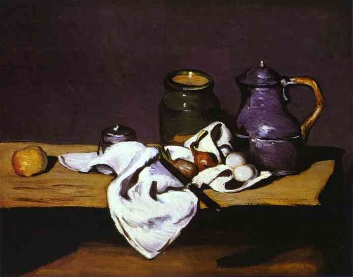 Still Life with Kettle, Paul Cezanne