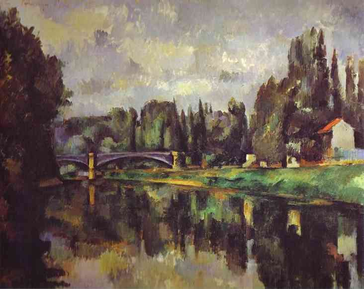 The Banks of the Marne Puskin, Paul Cezanne