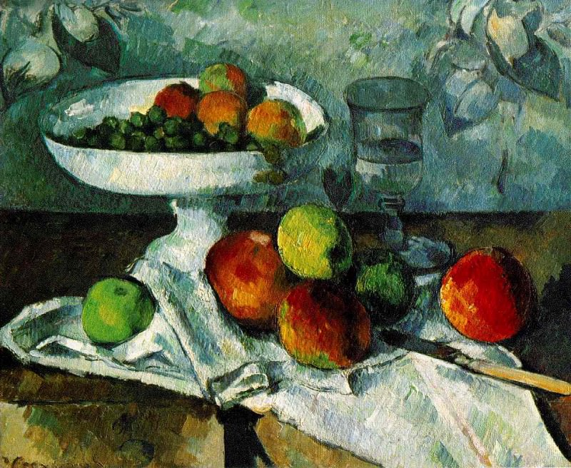 STILL LIFE WITH COMPOTIER,1879-80, COLLECTION MR. AN, Paul Cezanne