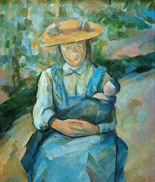 Young girl with doll, Paul Cezanne