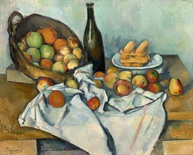 STILL LIFE WITH BASKET OF APPLES,1890-94, THE ART IN, Paul Cezanne
