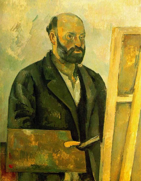SELF PORTRAIT WITH PALETTE,1885-87, COLLECTION THE A, Paul Cezanne