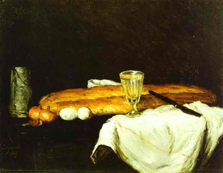 Bread and Eggs, Paul Cezanne