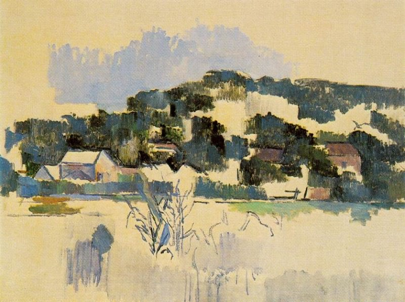 HOUSES ON THE HILL, 1900-06, Paul Cezanne