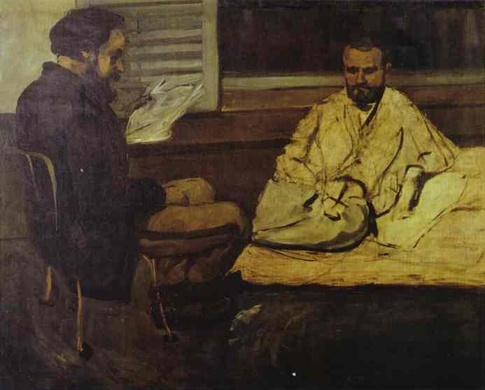 Paul Alexis Reading to Emile Zola, Paul Cezanne