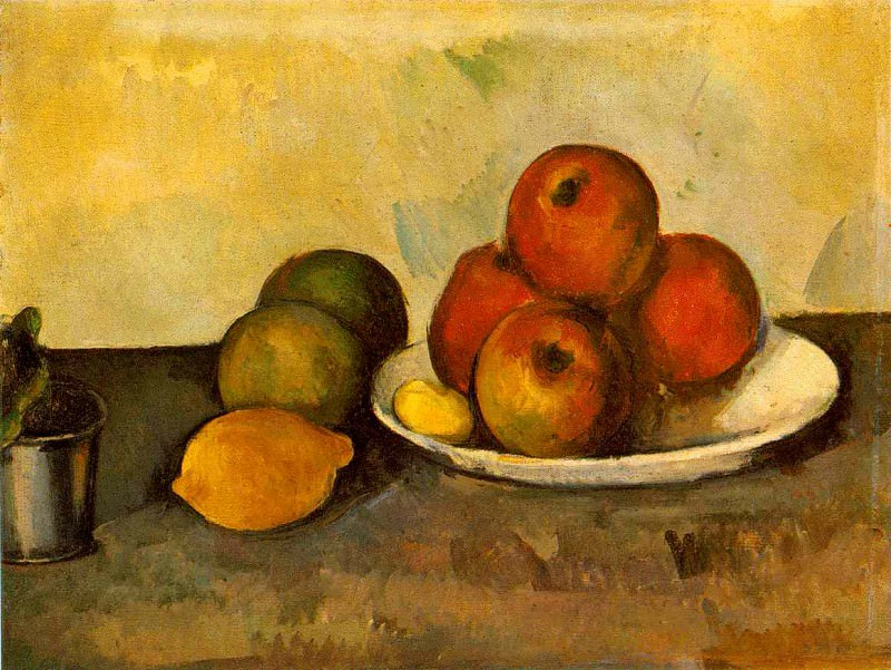 STILL LIFE WITH APPLES,C.1890, EREMITAGET, Paul Cezanne
