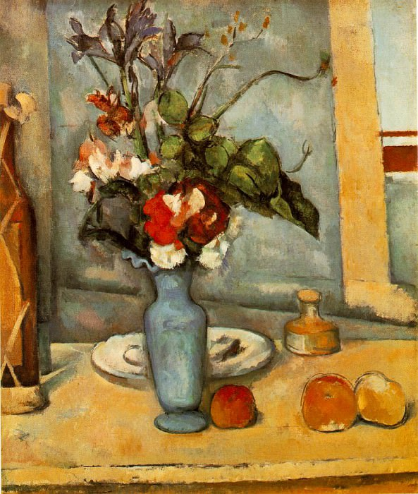 THE BLUE VASE,1883-87, MUSEE DORSAY, PARIS, Paul Cezanne