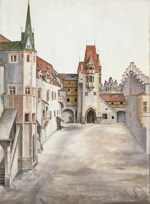 Courtyard of the Former Castle in Innsbruck without Clouds, Albrecht Dürer