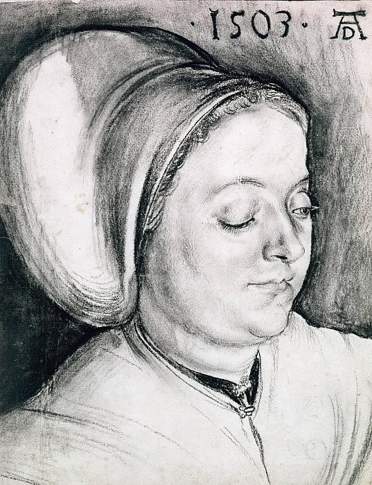 Portrait of a Woman, presumably the artists wife, Albrecht Dürer