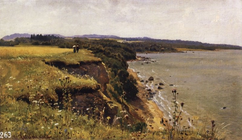 Along the shores of the Gulf of Finland Udrias near Narva. 1888 34, 3h57. 5, Ivan Ivanovich Shishkin