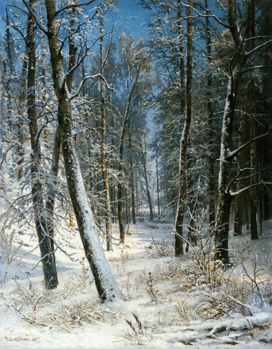 Winter in the forest, frost 1877 40, 8h25, 3, Ivan Ivanovich Shishkin