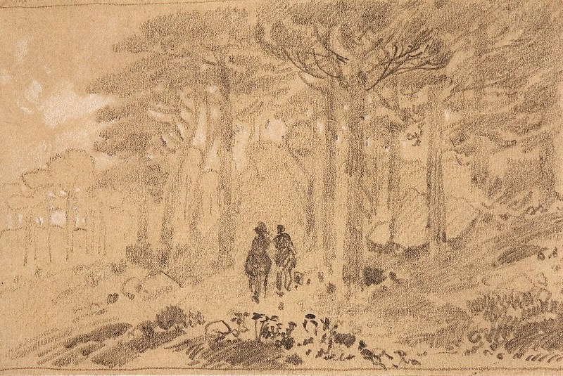 Two in the woods. Late 1880 - early 1890s, 9, 8h14, 7, Ivan Ivanovich Shishkin