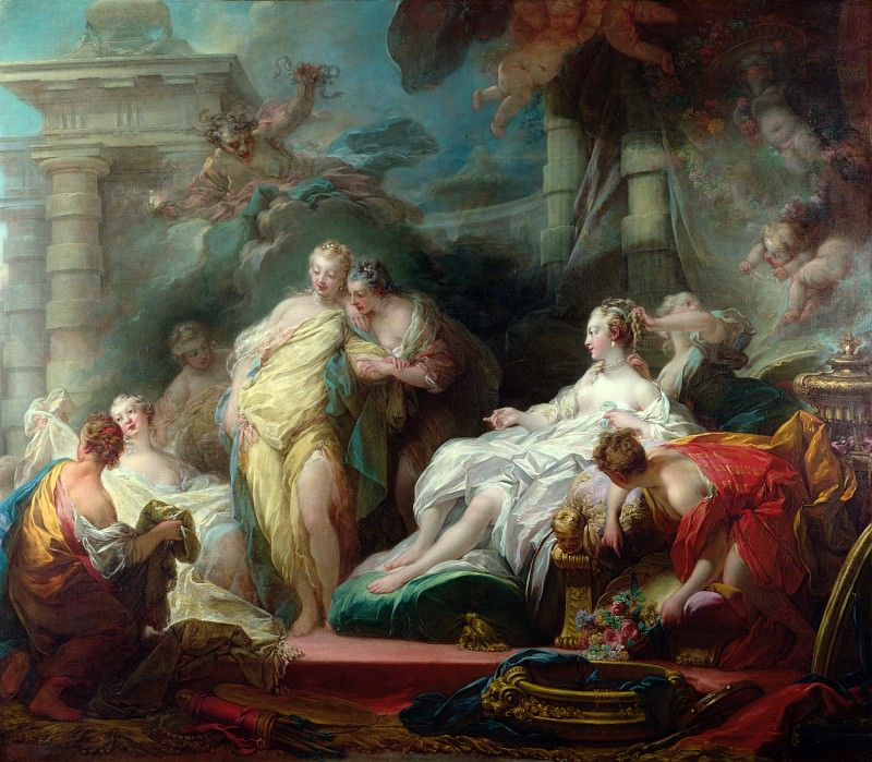 Psyche showing her Sisters her Gifts from Cupid, Jean Honore Fragonard