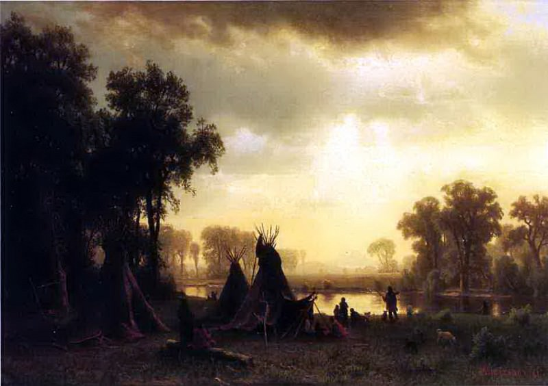 Bierstadt Albert An Indian Encampment, Albert Bierstadt