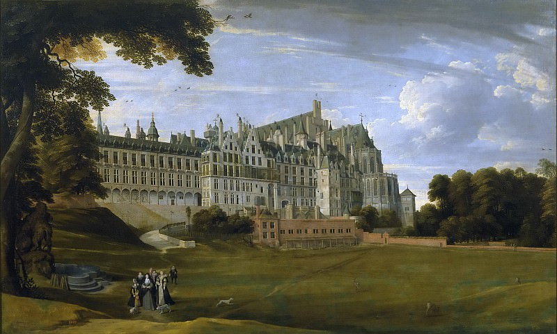 El Palacio Real de Bruselas Palacio de Coudenberg, Jan Brueghel The Elder
