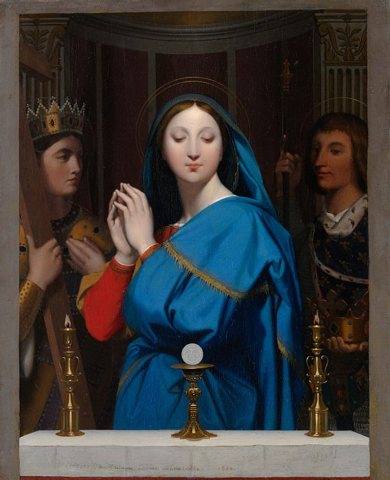 The Virgin Adoring the Host, Jean Auguste Dominique Ingres