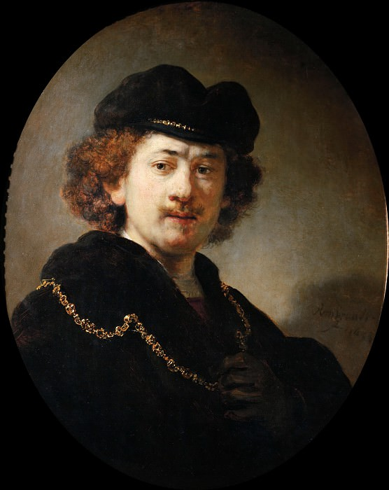 Self-Portrait with a Gold Chain, Rembrandt Harmenszoon Van Rijn