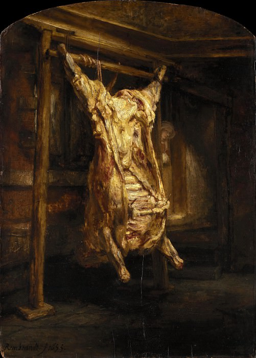The Slaughtered Ox, Rembrandt Harmenszoon Van Rijn