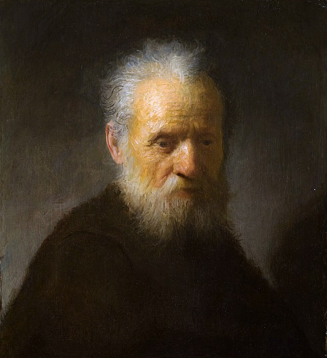 An old man with beard, Rembrandt Harmenszoon Van Rijn