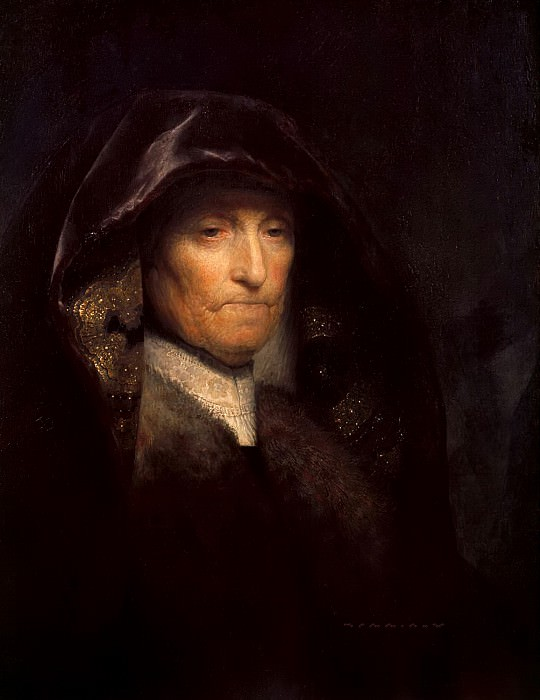 Portrait of the Artists Mother, Rembrandt Harmenszoon Van Rijn