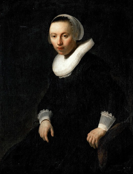 Portrait of a Young Woman Seated, Rembrandt Harmenszoon Van Rijn
