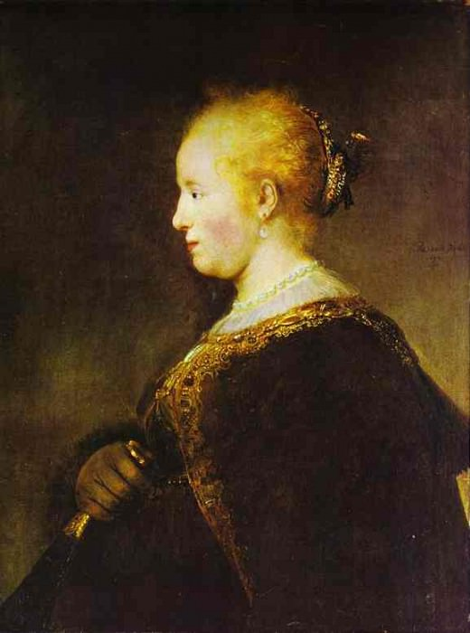 Portrait of a Young Woman with the Fan, Rembrandt Harmenszoon Van Rijn
