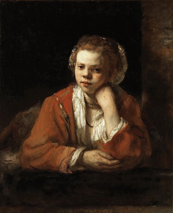 Young Girl at the Window, Rembrandt Harmenszoon Van Rijn