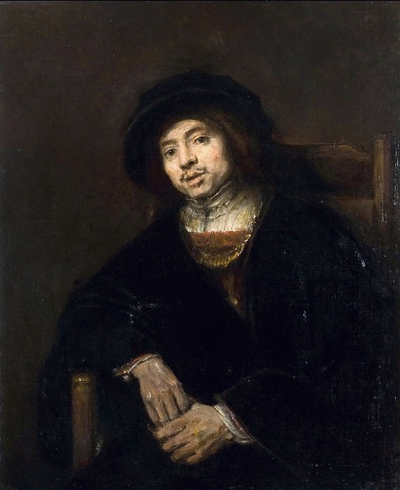 Portrait of a young man in an armchair, Rembrandt Harmenszoon Van Rijn