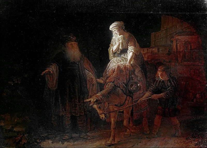 The expulsion of Hagar attr., Rembrandt Harmenszoon Van Rijn