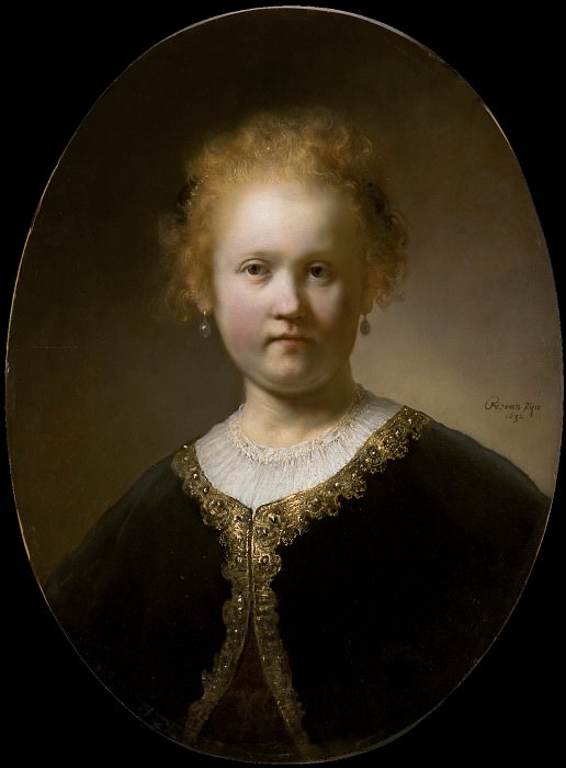 Young Girl in a Gold-Trimmed Cloak, Rembrandt Harmenszoon Van Rijn