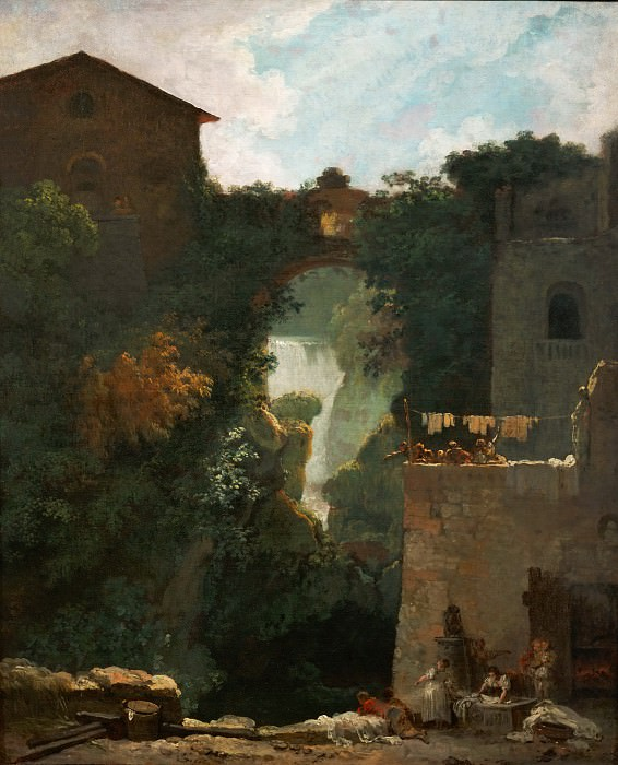 Waterfalls of Tivoli, Jean Honore Fragonard