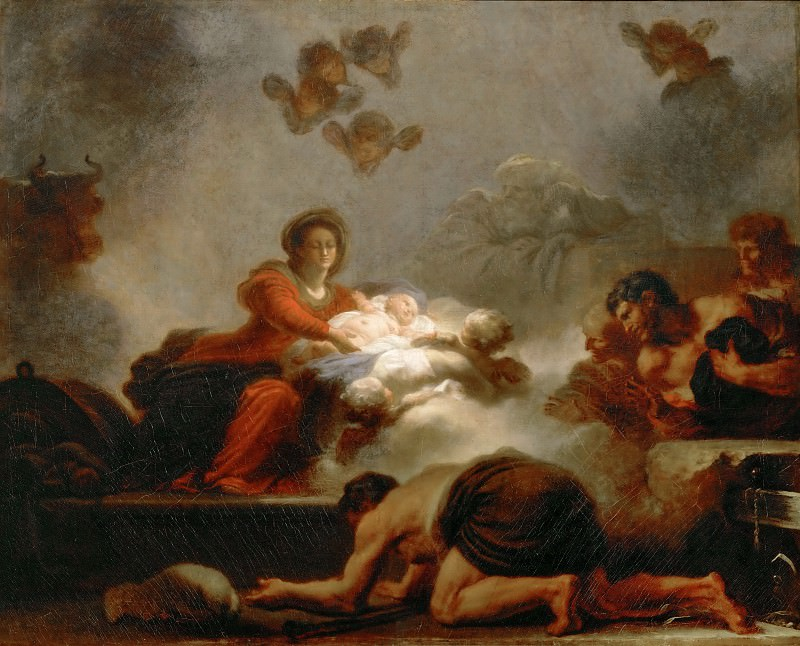 Adoration of the Shepherds, Jean Honore Fragonard